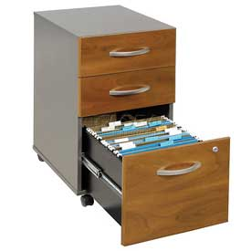 Mobile Drawer File In Natural Cherry - Office Furniture Groupings