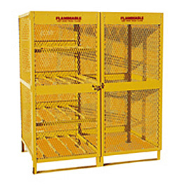 "Global&#8482 Cylinder Storage Cabinet - Combo Double Door 8 & 10 Cylinders - 64""W x 40""D x 71""H"