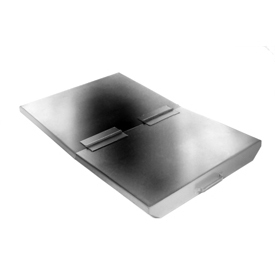 Lid for Wright 1/2 Cu Yd Stainless Steel Heavy Duty Self-Dumping Hopper