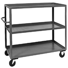 Jamco Heavy Duty Shelf Truck CC348 3 Shelves 48x30 3000 Lb. Capacity