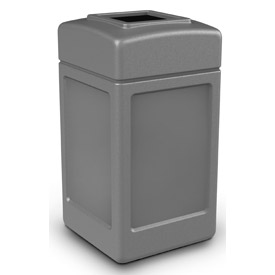 42 Gallon Square Waste Receptacle - Gray