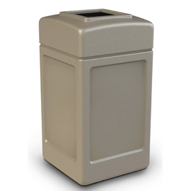42 Gallon Square Waste Receptacle - Beige