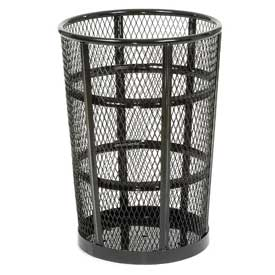 Global™ Outdoor Metal Trash Container Black, 48 Gallon