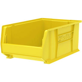 "Akro-Mils Super-Size AkroBin® 30281 - Stacking Bin 12-3/8""W x 20""D x 8""H Yellow - Pkg Qty 3"