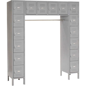 Paramount® 16 Person Locker 12  X 18 X 12 Ready To Assemble Gray