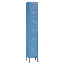Hallowell U1228-6A-MB Premium Locker Six Tier 12x12x12 6 Door Assembled Blue