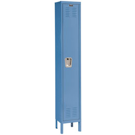 Hallowell U1258-1MB Premium Locker Single Tier 12x15x72 1 Door Ready Assemble Blue