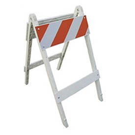 Plastic Folding Traffic Barricade 37 Inch High 2 Panels