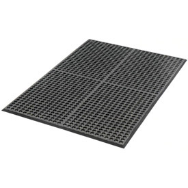 "Extra Value Drainage Matting 1/2"" Thick 3'Wx20'L Black With Grit Top"