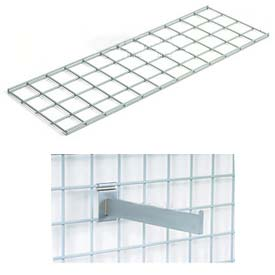 "48""X12"" Wire Shelves With Brackets Package Of 2"