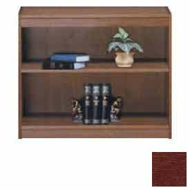 "Unassembled 36""H Contemporary Square Edge Bookcase Medium Cherry"