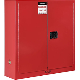 "Global&#8482 Paint & Ink Storage Cabinet - Manual Close Single Door 24 Gallon - 23""W x 18""D x 44""H"