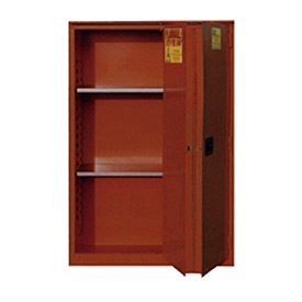 "Global&#8482 Paint & Ink Storage Cabinet - Manual Close Bi-Fold Single Door 96 Gallon - 34""W x 34""D"