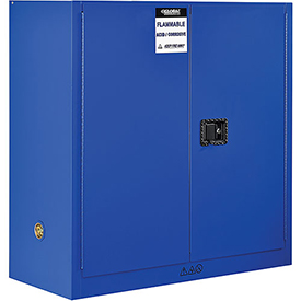 "Global&#8482 Acid Corrosive Cabinet - Manual Close Double Door 30 Gallon - 43""W x 18""D x 44""H"