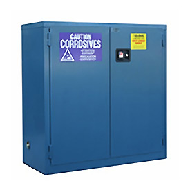 "Global&#8482 Acid Corrosive Cabinet - Self Close Double Door 30 Gallon - 43""W x 18""D x 44""H"