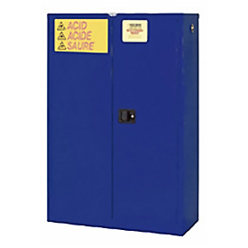 "Global™ Acid Corrosive Cabinet - Self Close Double Door 45 Gallon - 43""W x 18""D x 65""H"