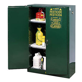 Pesticide Cabinet Manual Double Door 45 Gallon