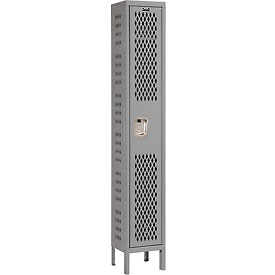 Hallowell U1588-1HDV-HG Heavy-Duty Ventilated Locker Single Tier 15x18x72 1 Door Unassembled