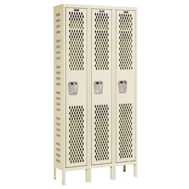 Hallowell U3588-1HV-A-PT Heavy-Duty Ventilated Locker Single Tier 15x18x72 3 Door Assembled