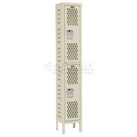 Hallowell U1228-2HDV-PT Heavy-Duty Ventilated Locker Double Tier 12x12x36 2 Door Unassembled