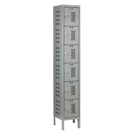 Hallowell U1228-6HDV-HG Heavy-Duty Ventilated Locker Six Tier 12x12x12 6 Door Unassembled