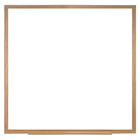 Ghent 48.5 x 48.5in Wood Frame Non-Magnetic Whiteboard Includes 1 Marker and Eraser, Made in USA