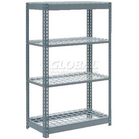 "Heavy Duty Shelving 36""W x 18""D x 72""H With 4 Shelves, Wire Deck"