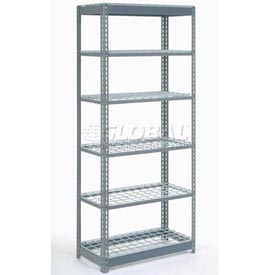 "Heavy Duty Shelving 36""W x 24""D x 72""H With 6 Shelves, Wire Deck"