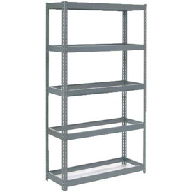 "Extra Heavy Duty Shelving 48""W x 24""D x 72""H With 5 Shelves, No Deck"