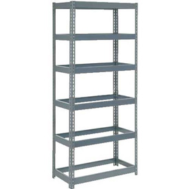 "Extra Heavy Duty Shelving 36""W x 18""D x 72""H With 6 Shelves, No Deck"