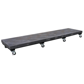 """Mobile Plastic Dunnage Rack 96""""W x 24""""D (2000 Lbs Cap)"""