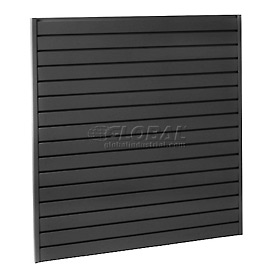 "Steel Slatwall Panel 48""H X 48""W Black - Pkg Qty 4"