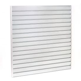"Steel Slatwall Panel 96""H X 48""W Galvanized - Pkg Qty 4"