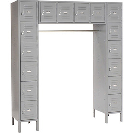 Infinity™ 16 Person Locker 12 X 18 X 12 Assembled Gray