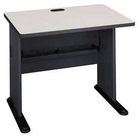 "Bush Furniture 36"" Desk - Gray - Series A"