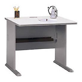 36 Inch Desk in Pewter - Modular Office Furniture
