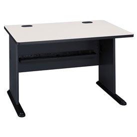 48 Inch Desk in Slate Frame with Gray Surface - Modular Office Furniture