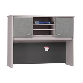 48 Inch Hutch in Pewter - Modular Office Furniture
