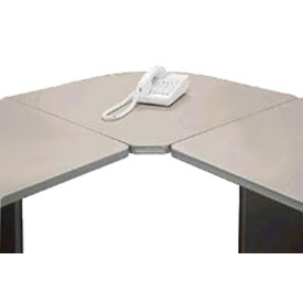 Corner Connecter in Pewter - Modular Office Furniture