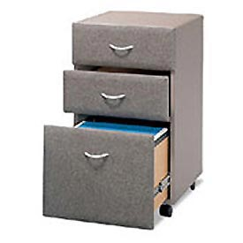 Three Drawer File in Pewter - Modular Office Furniture