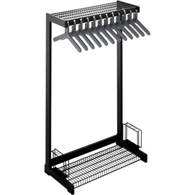 "24""W Floor Rack With 8 Hangers - Black"