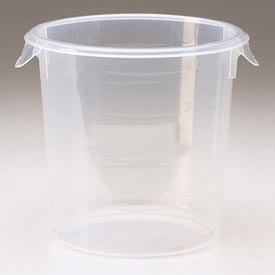 "Rubbermaid 5721-24 Semi-Clear Plastic Round Container 1 Gallon 8-1/2"" Dia. x 7-3/4""H - Pkg Qty 12"