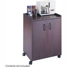 Safco Wood Mobile Refreshment Center, Mahogany - 8953-MH