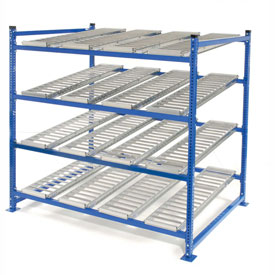 "UNEX Flow Cell Heavy Duty Gravity Rack Starter 72""W x 72""D x 72""H with 4 Levels"