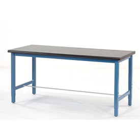 "60""W x 36""D Production Workbench - Phenolic Resin Safety Edge - Blue"