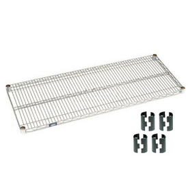 "Nexel S2436C Chrome Wire Shelf 36""W x 24""D with Clips"