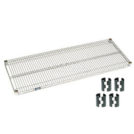 "Nexel S1872C Chrome Wire Shelf 72""W x 18""D with Clips"