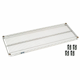 "Nexel S1848Z Poly-Z-Brite Wire Shelf 48""W x 18""D with Clips"