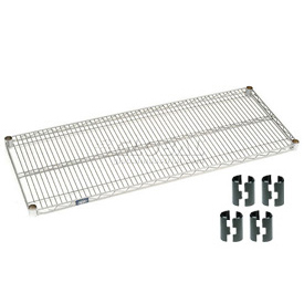 "Nexel S1872Z Poly-Z-Brite Wire Shelf 72""W x 18""D with Clips"