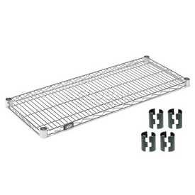 "Nexel S2424Z Poly-Z-Brite Wire Shelf 24""W x 24""D with Clips"